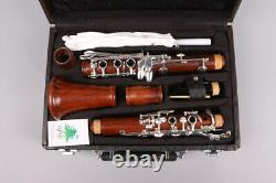 Yinfente Professional B-flat Clarinette Rosewood Bb 17 Keys Argent Plaqué