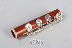 Yinfente Rosewood Flute 17 Trous Ouvert En Argent Plaqué Touche E Touche B Pied Professionnel