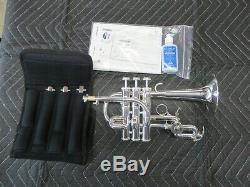 Ytr-9825s Sur Mesure Bb / A Piccolo Trompette En Argent, Menthe Avec Set Complet Bit-pipe